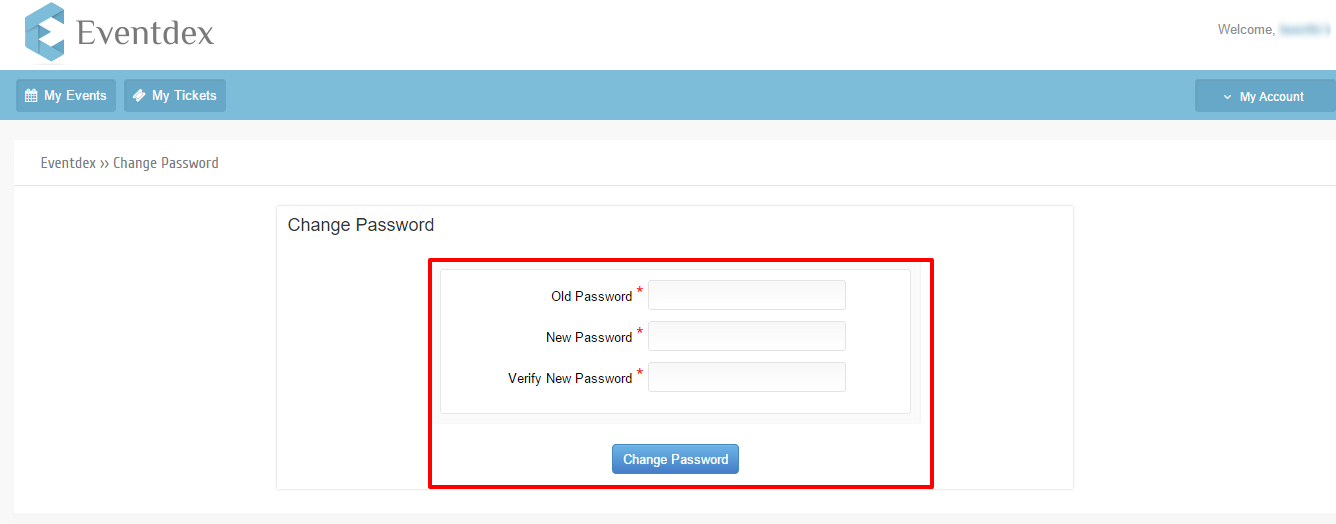 Change Password from My Account