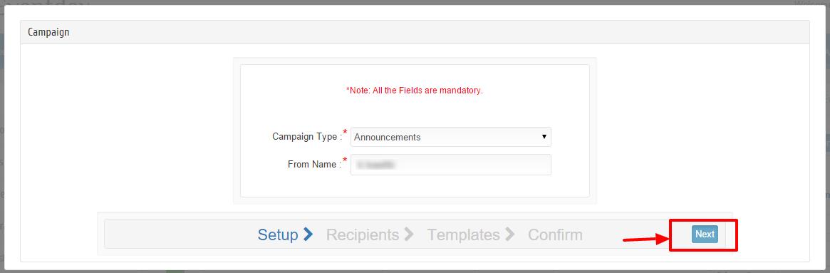 Create campaign step 1