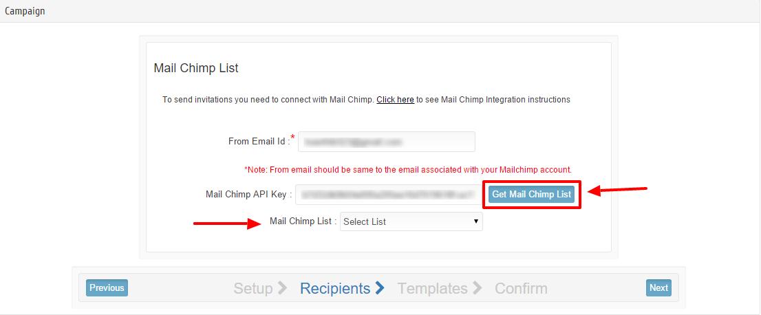 Get Mailchimp list