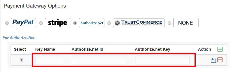 Enter Authorize.Net ID