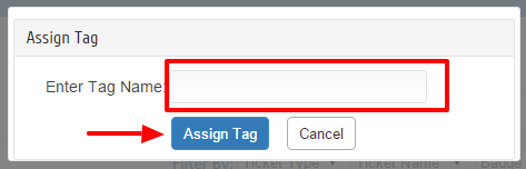Enter Tag name and click on assign tag