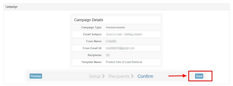 Send standard Campaign last step