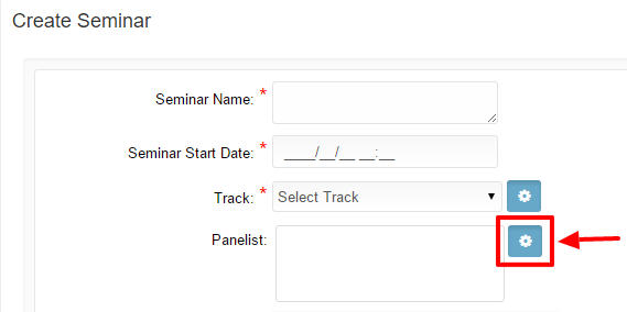 Settings button of panelist field