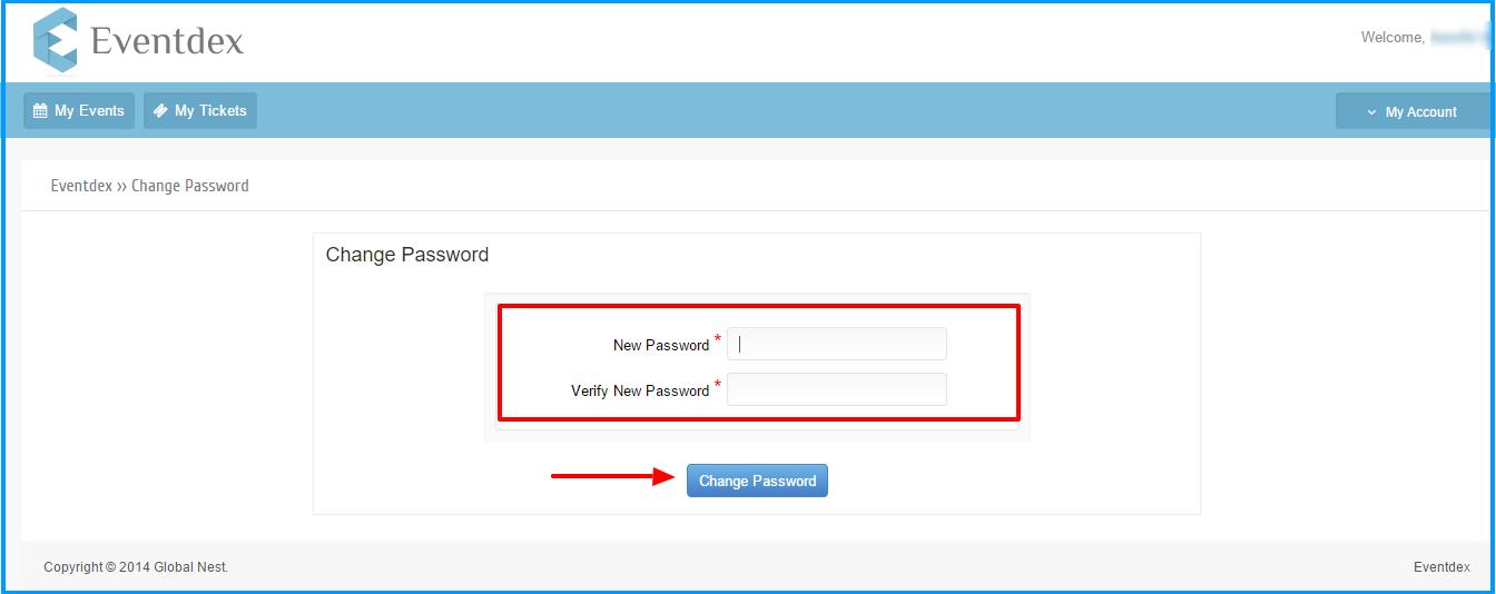 forgot password change password screen